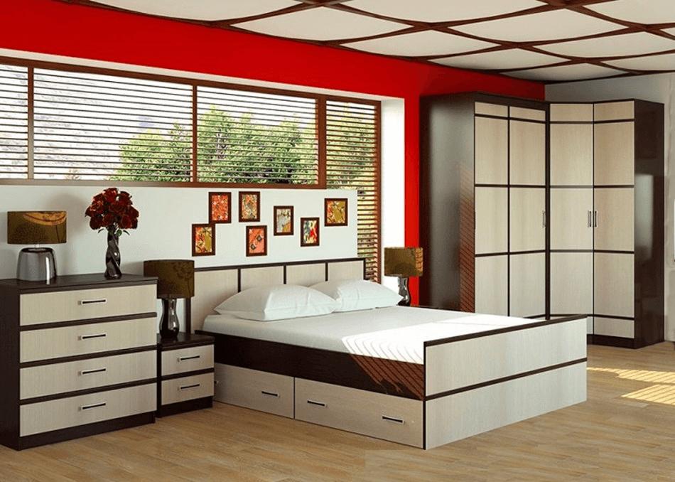 купить модульная спальня сакура интернет магазин цвет мебели в