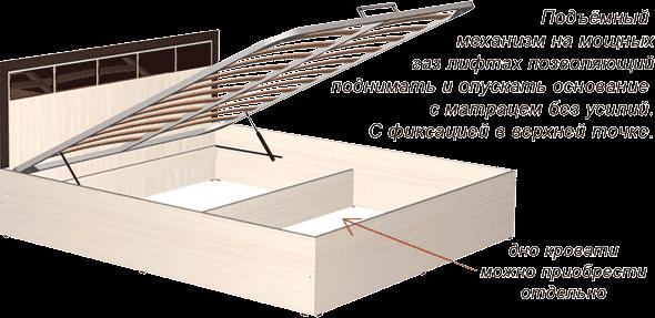 """Кровать """"Венеция"""" с подъемным механизмом (1600)"""