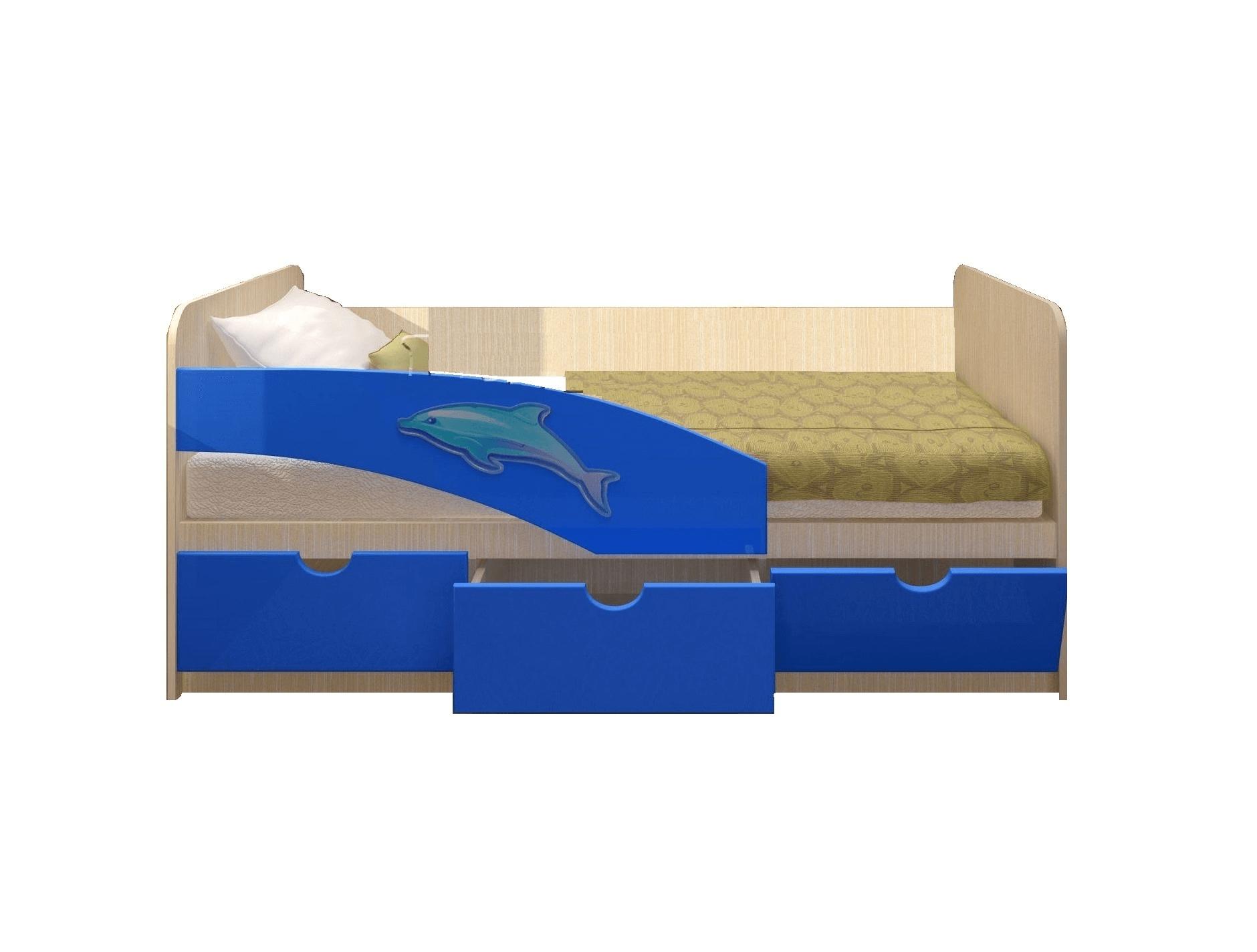 """Кровать """"Дельфин 3Д с фотопечатью"""""""
