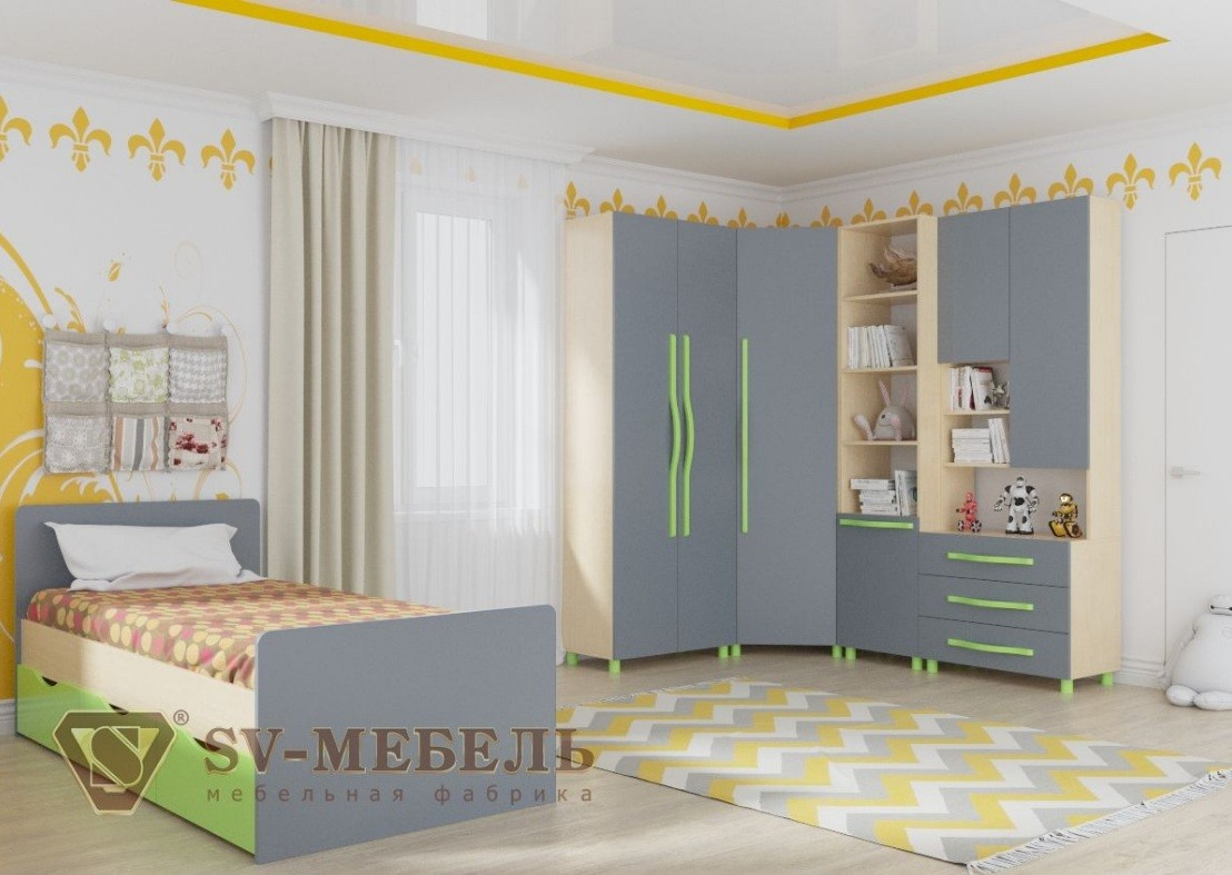 Кровать одинарная (Алекс 1)