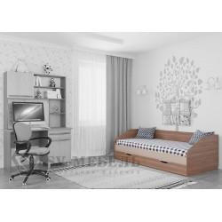 Кровать одинарная 3 спинки (Алекс 1)