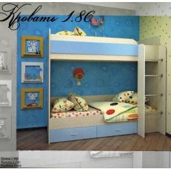 Кровать двухъярусная 1.86