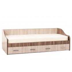 Кровать одинарная с ящиками (Город)