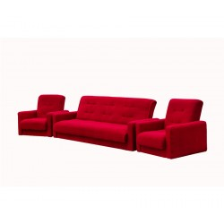 Комплект Астра бордовая (диван + 2 кресла)
