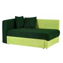 Кушетка Глория Астра (темно-зеленая - салатовая) правая