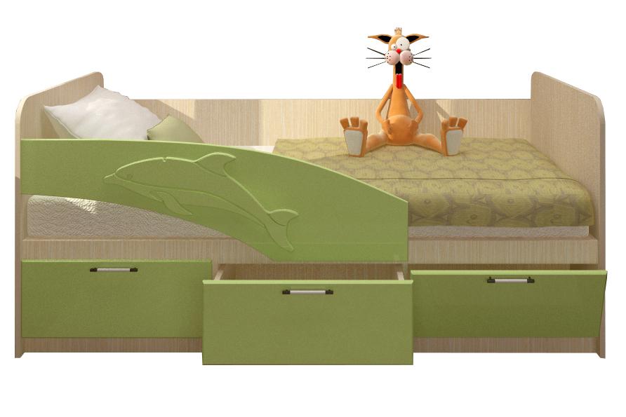 """Детская кровать """"Дельфин"""" 80*180"""