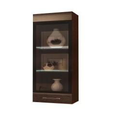 """Шкаф-витрина навесной 600 """"Олимп"""" Цвета (корпусная мебель)-Венге"""