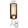 Угловая тумба с вешалкой (Диана 4)