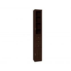 "Шкаф для книг 7 ""MONTPELLIER"" Орех шоколадный"