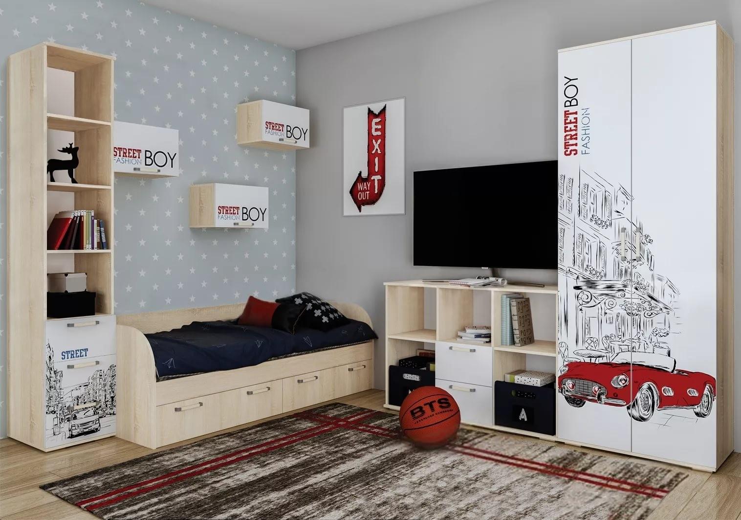 """Кровать с ящиками """"Сенди"""" КР-01 Street Boy"""