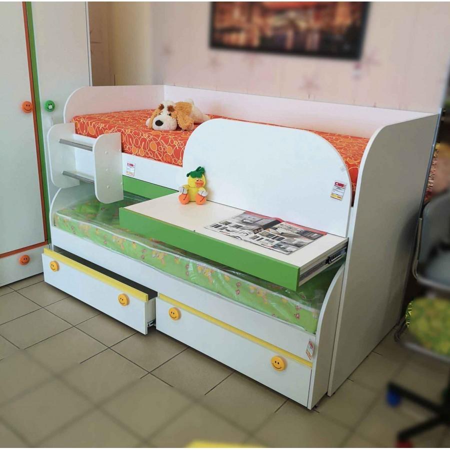 """Кровать двухъярусная """"Мамба"""" КР-06 + кровать с ящиками КР-01"""