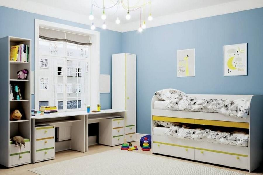 """Кровать с ящиками """"Мамба"""" КР-01 + двухъярусная кровать КР-06"""