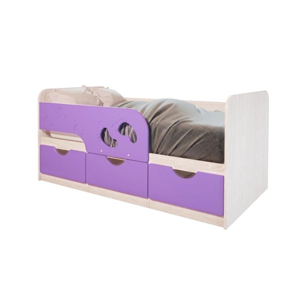 """Кровать детская """"Минима Лего"""" лиловый сад"""