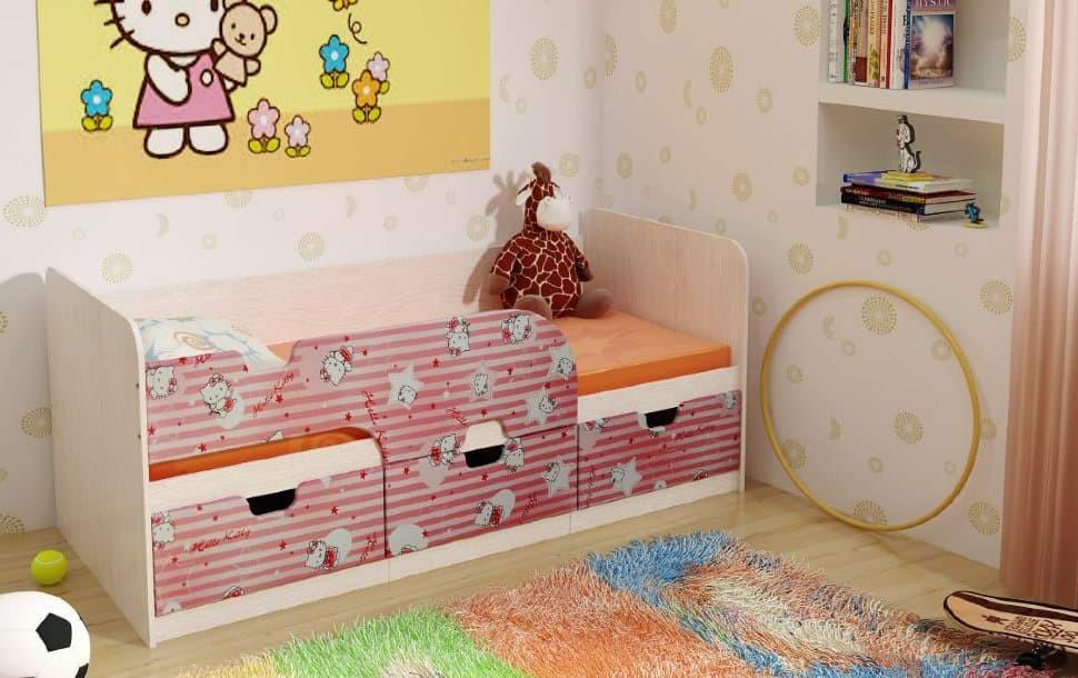 """Кровать детская """"Минима"""" хеллоу китти"""