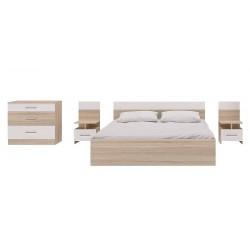 Кровать с комодом и тумбами Леси