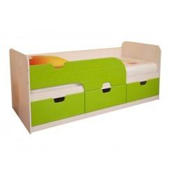 """Кровать детская """"Минима"""" с ящиками 1,86 лайм глянец"""