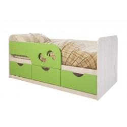 """Кровать детская """"Минима Лего"""" 1,6 лайм глянец"""