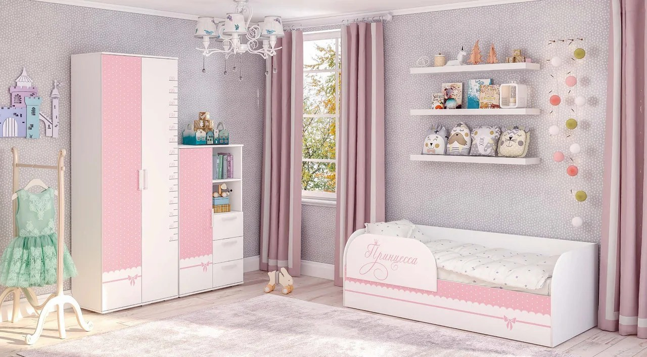 """Кровать детская КРП-01 """"Трио"""" принцесса"""