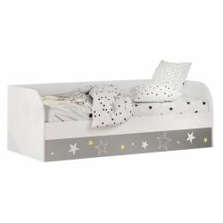 """Кровать детская КРП-01 """"Трио"""" звездное детство"""