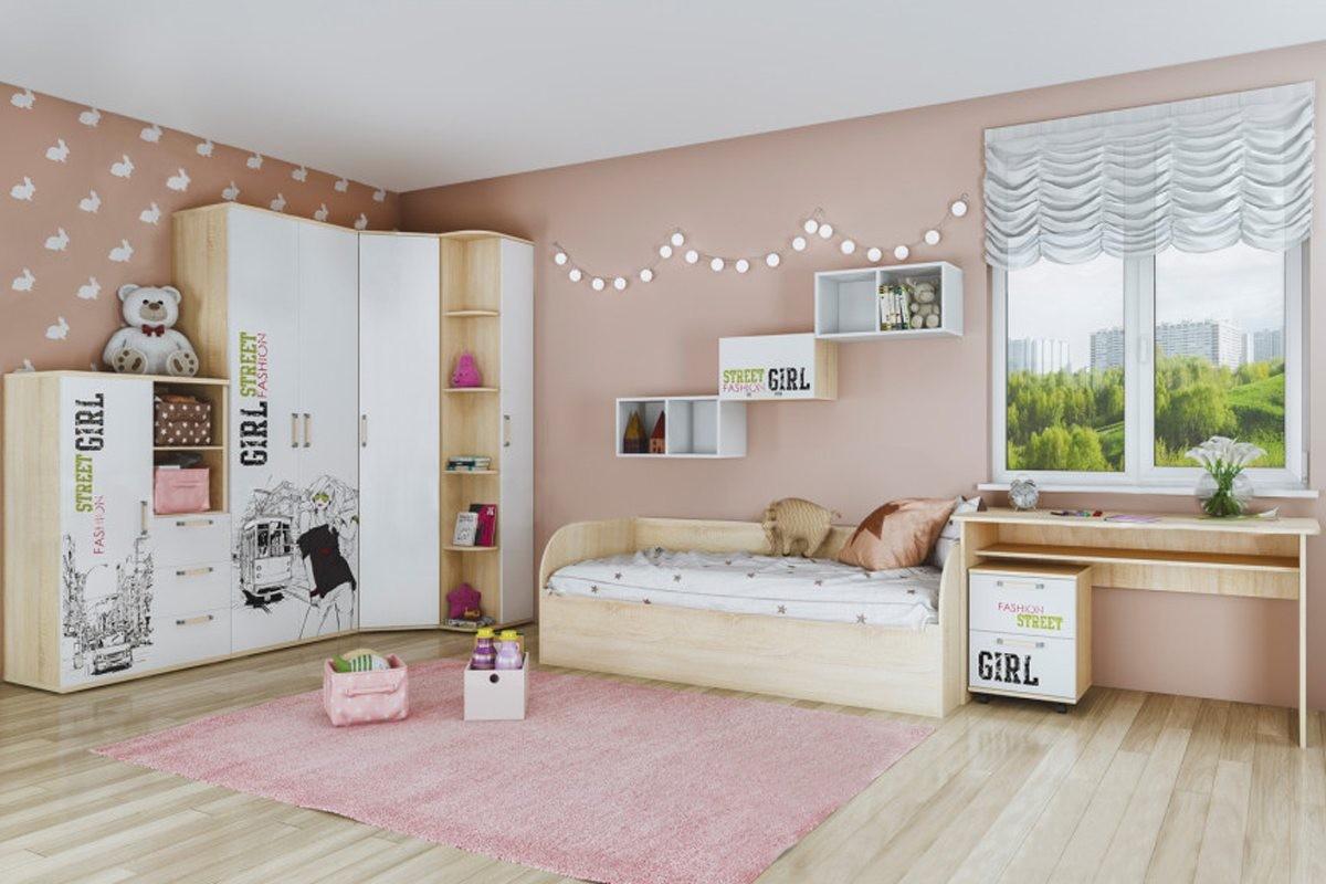 """Кровать с ящиками """"Сенди"""" КР-01 Street Girl"""
