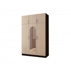 Шкаф трехстворчатый с двумя ящиками
