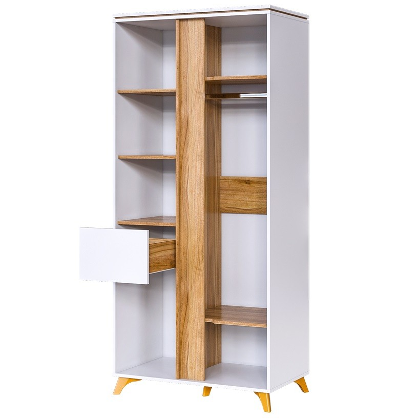 "Шкаф 2-х створчатый с ящиком ""Сканди"""