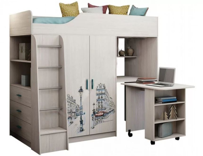 Кровать двухъярусная Каприз-9 (с рисунком)