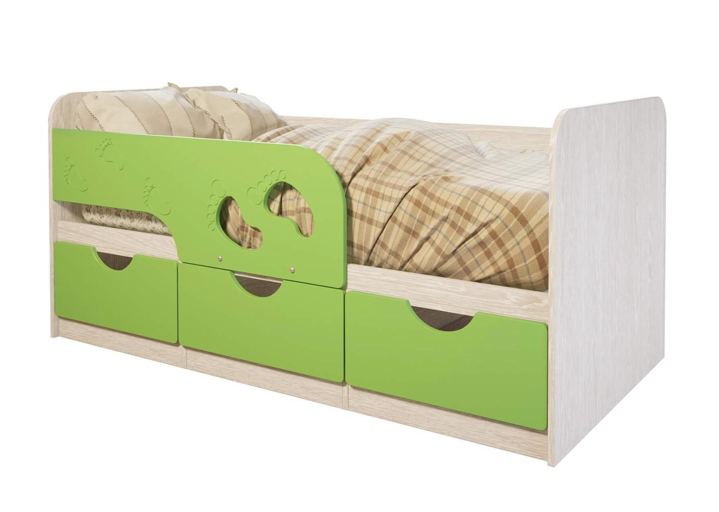 """Кровать детская """"Минима Лего"""" лайм глянец"""