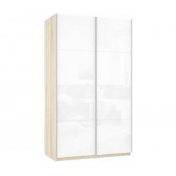 Шкаф-купе Прайм 2-дверный Белое стекло/Белое стекло