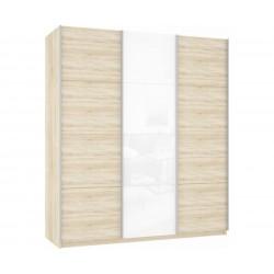 Шкаф-купе Прайм 3-дверный ДСП/Белое стекло/ДСП