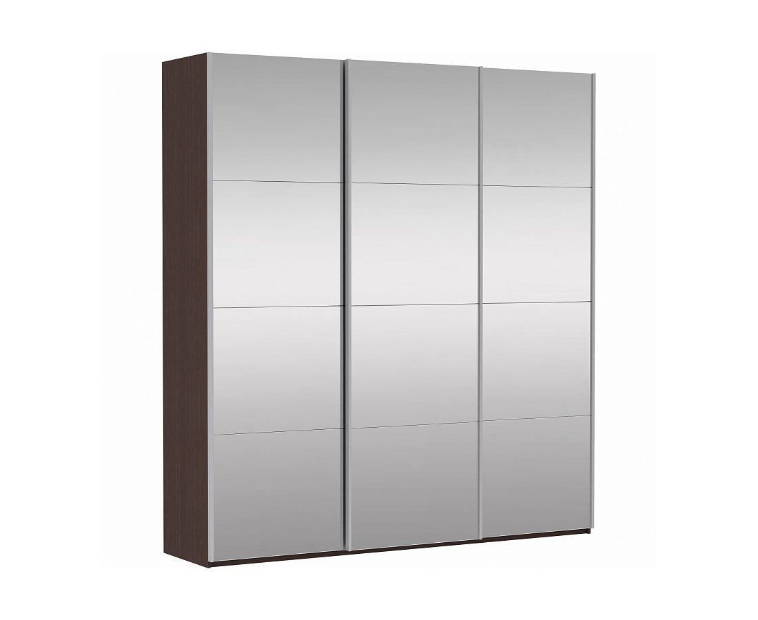 Шкаф-купе Прайм 3-дверный Зеркало/Зеркало/Зеркало