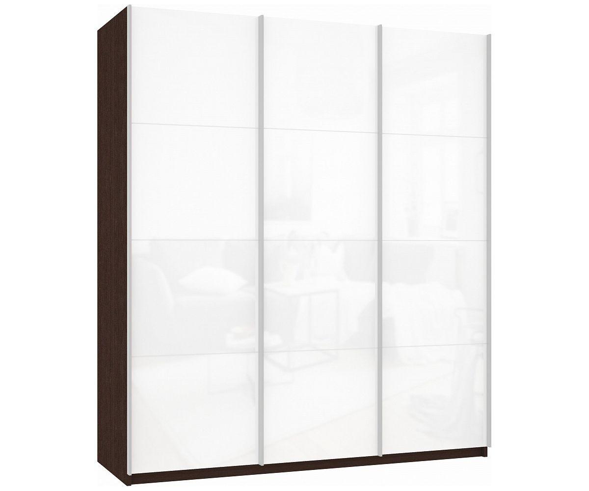 Шкаф-купе Прайм 3-дверный Белое стекло
