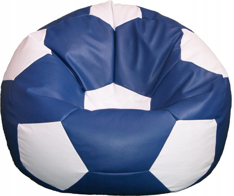 Кресло мяч сине-белый