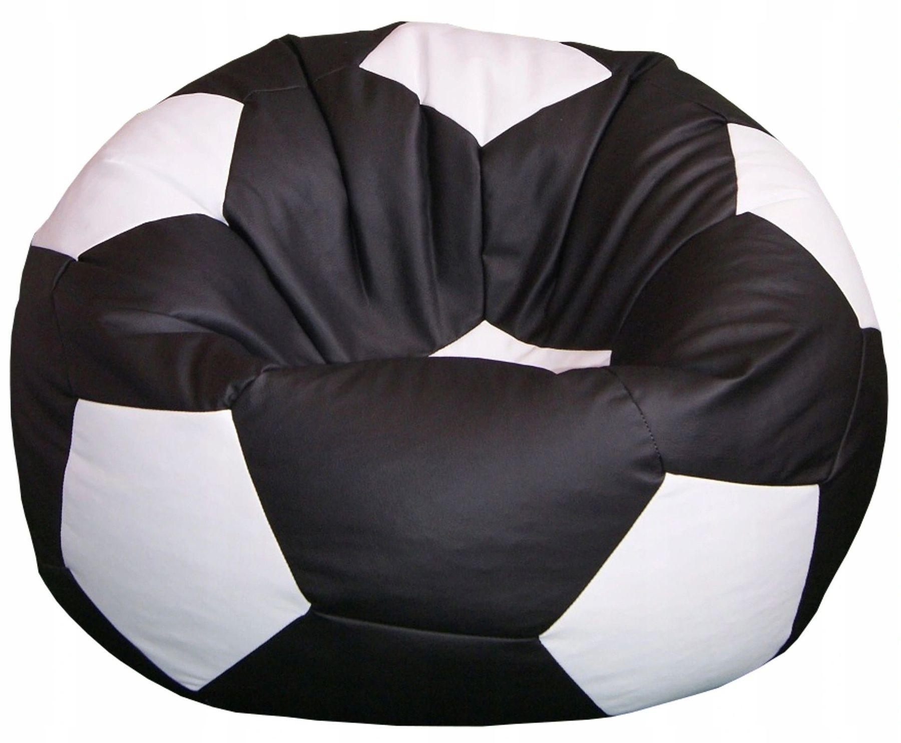 Кресло мяч чёрно-белый