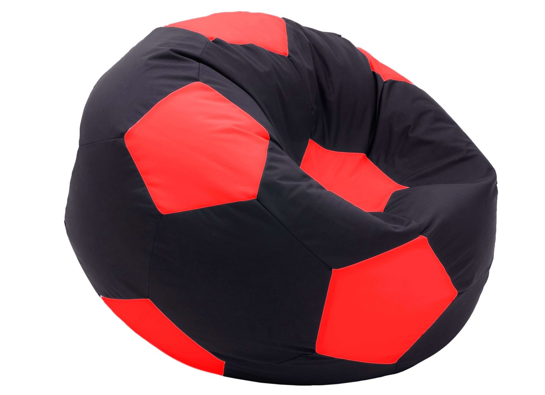 Кресло мяч серо-красный