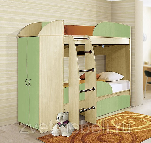Кровать двухъярусная Омега-4a