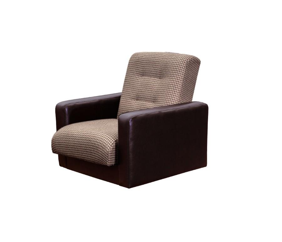 Кресло Лондон рогожка микс коричневая