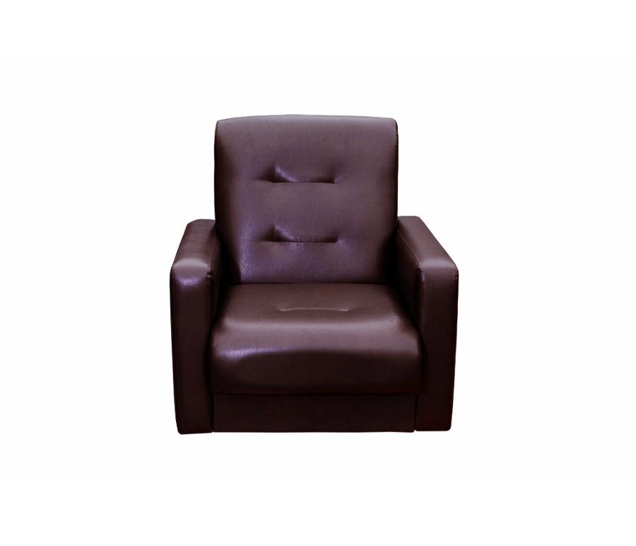 Кресло Аккорд экокожа коричневая