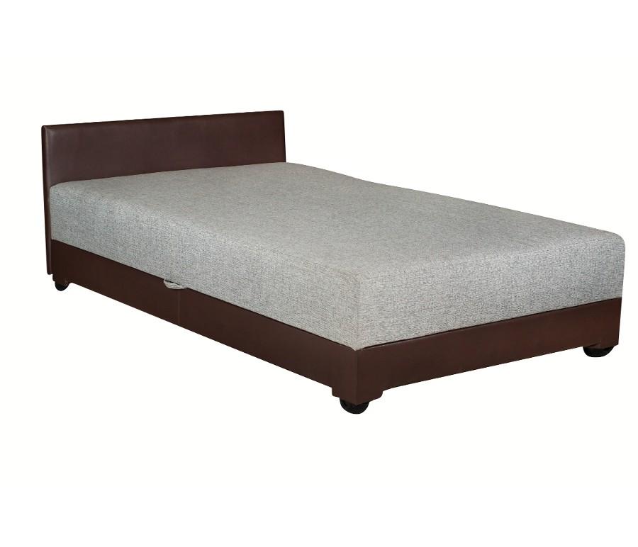 """Кровать """"Атлантида"""" серая/ экокожа"""