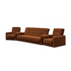 Комплект Астра коричневая (диван + 2 кресла)