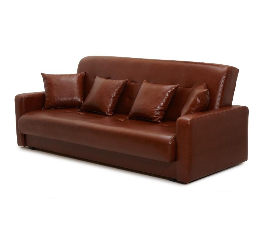 Диван Аккорд коричневый (2 подушки в комплекте)