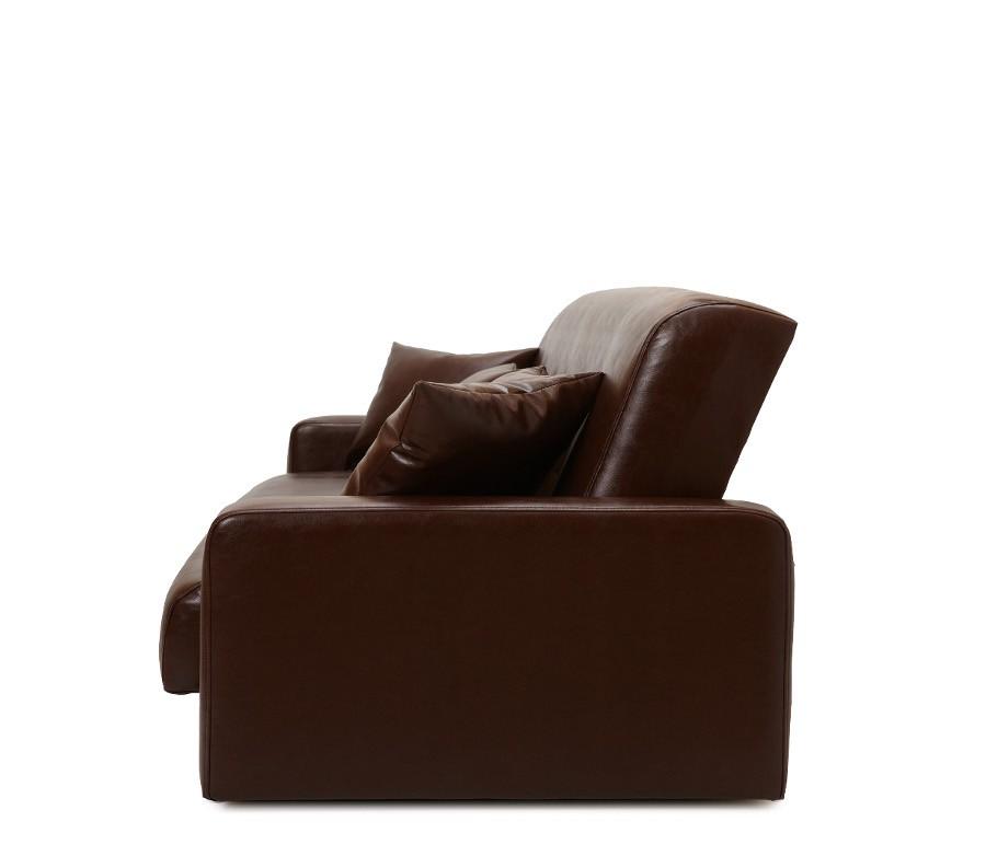 Диван Аккорд темно-коричневый (2 подушки в комплекте)