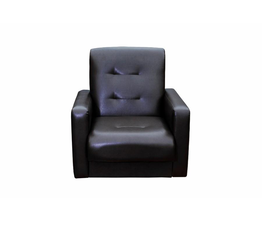 Кресло Аккорд экокожа темно-коричневая