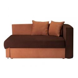 Кушетка Глория Астра (коричневая - светло-коричневая) левая