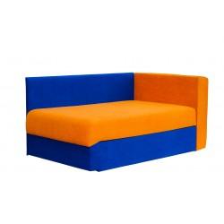 Кушетка Глория Астра (синяя-оранж) левая