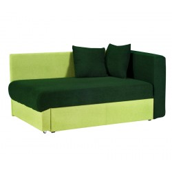 Кушетка Глория Астра (темно-зеленая - салатовая) левая
