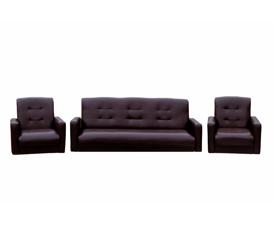 """Кресло """"Аккорд"""" экокожа коричневая"""